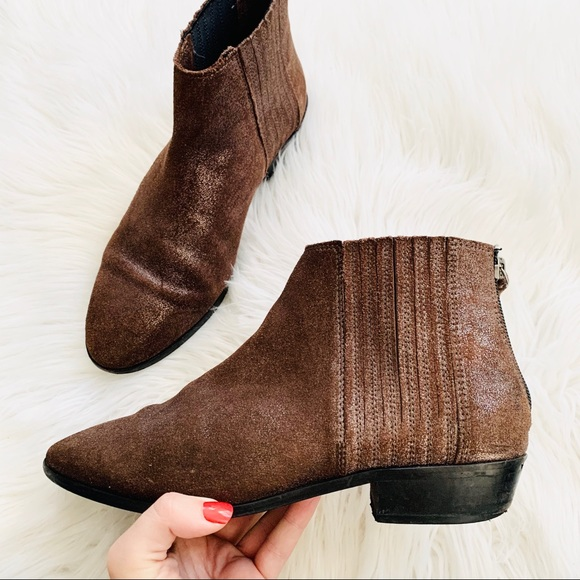 Kenneth Cole Reaction Loop-y Brown Ankle Boots